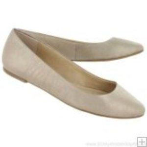 Lucky Brand Gold Leather Aimee Flats Size 6